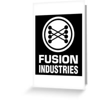 Fusion Industries - Back to the Future (White) Greeting Card
