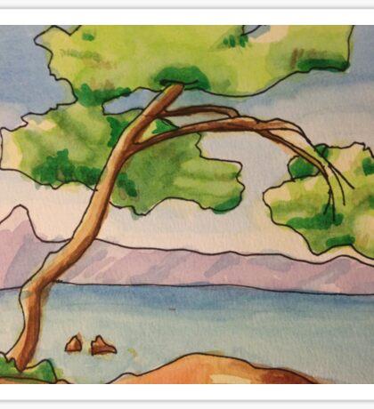 The Tree Near the Lake Sticker
