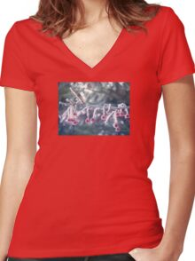 Berry Ice Freeze Women's Fitted V-Neck T-Shirt