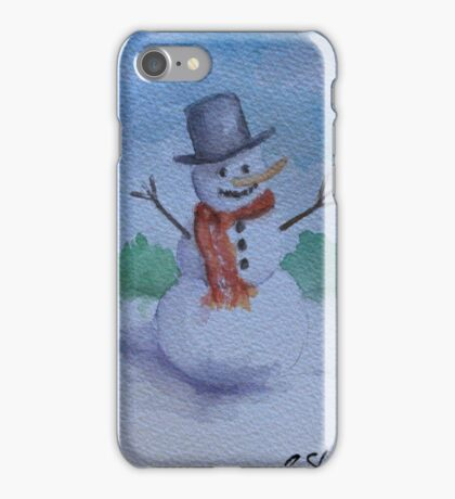 Happy Snowman WC161122d iPhone Case/Skin