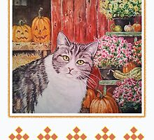 Jackie Mumpkin, Farm Cat by BDMillustration