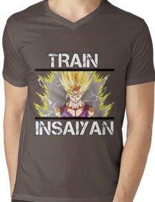 Awesome Train Insaiyan Gohan Super Saiyan 2 Mens V-Neck T-Shirt