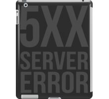 5XX Server Error iPad Case/Skin