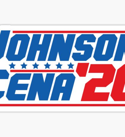 2020 Presidential Candidates Dwayne Johnson John Cena Sticker