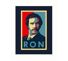 Ron Burgundy (Obama Style) Art Print