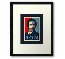 Ron Burgundy (Obama Style) Framed Print