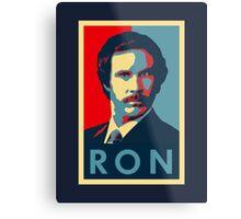 Ron Burgundy (Obama Style) Metal Print