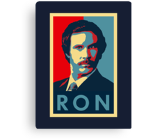Ron Burgundy (Obama Style) Canvas Print