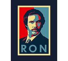 Ron Burgundy (Obama Style) Photographic Print