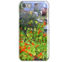 Stone Walls And Nasturtiums iPhone Case/Skin