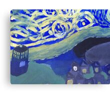 Doctor Who Painting Canvas Print