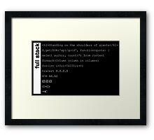 Full stack developer Framed Print