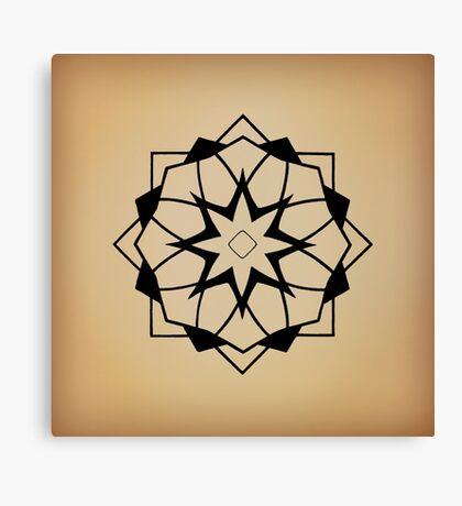 Mandala #218 || Tan Canvas Print