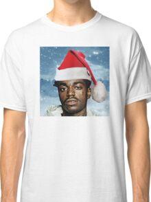 Kodak Black Santa Hat Snow Background- Christmas Classic T-Shirt