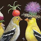 Goldfinch Family by Vicki Sawyer