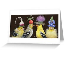 Goldfinch Family Greeting Card