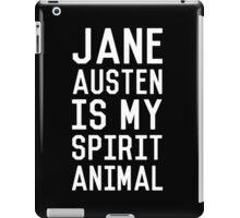 Jane Austen is my Spirit Animal_White iPad Case/Skin