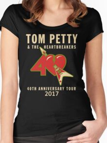 40TH ANNIVERSARY TOUR TOM PETTY Women's Fitted Scoop T-Shirt