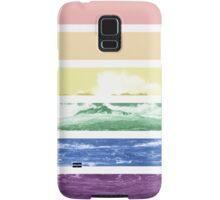 LGTB flag on waves crashing Samsung Galaxy Case/Skin