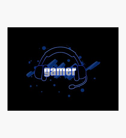 Gamer - Headphones Photographic Print