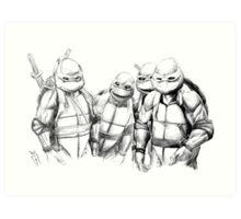 Turtle Power TMNT 1990 Pencils Art Print