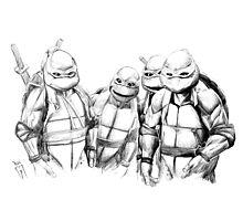 Turtle Power TMNT 1990 Pencils Photographic Print