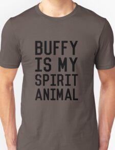 Buffy is my Spirit Animal_Black Unisex T-Shirt