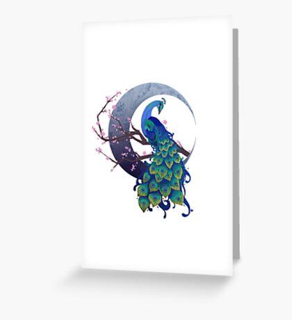 Peacock Dreams Greeting Card