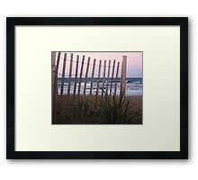 Barrier Lines Framed Print