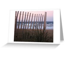 Barrier Lines Greeting Card