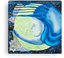 The night,an allegory Canvas Print