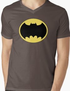 DKR TV round Bat Mens V-Neck T-Shirt