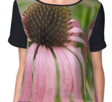 Pointy in Pink Chiffon Top