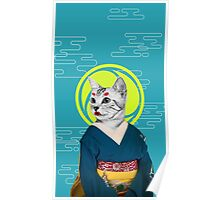 geisha cat Poster