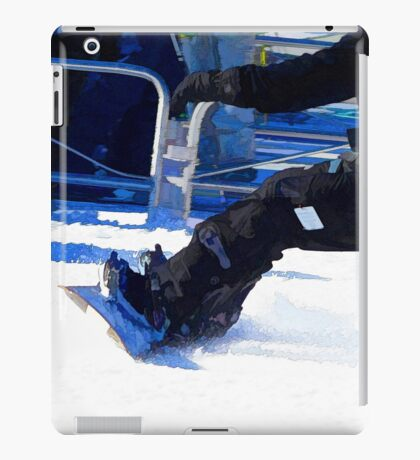 Snowboarder Skidding Winter Sports Gift iPad Case/Skin