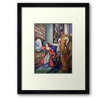 The Past Intrudes Framed Print