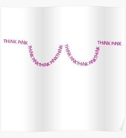 Think Pink Bra Poster