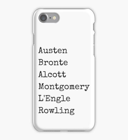 Female Authors iPhone Case/Skin