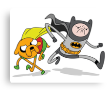 Adventure Time Batman and Robin Mash Up Canvas Print