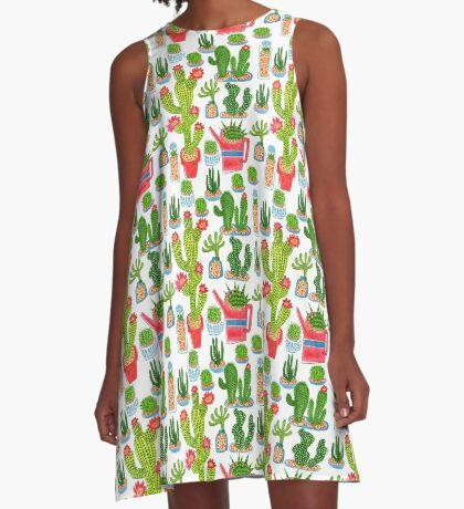 cactus A-Line Dress