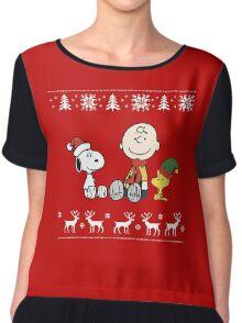 Charlie Brown Christmas Chiffon Top