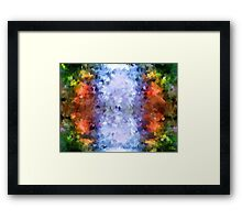 water reflection rain water puddle abstract, Framed Print