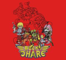 Bucky O'Hare - Logo - Group with Ship - Color Kids Clothes