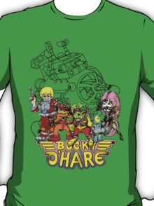 Bucky O'Hare - Logo - Group with Ship - Color T-Shirt