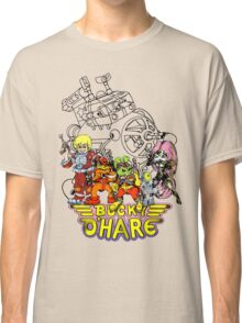 Bucky O'Hare - Logo - Group with Ship - Color Classic T-Shirt