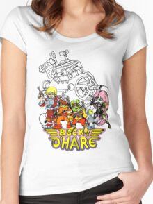 Bucky O'Hare - Logo - Group with Ship - Color Women's Fitted Scoop T-Shirt