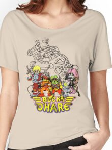 Bucky O'Hare - Logo - Group with Ship - Color Women's Relaxed Fit T-Shirt