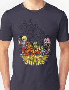 Bucky O'Hare - Logo - Group with Ship - Color Unisex T-Shirt
