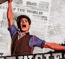 Colored Newsies Playbill Sticker