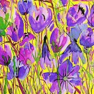 Violet Floral by marlene veronique holdsworth